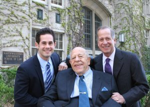 Daniel J. Elrod, the Honorable Richard J. Elrod, and Steven M. Elrod, at Dan's graduation from Northwestern Law last spring.