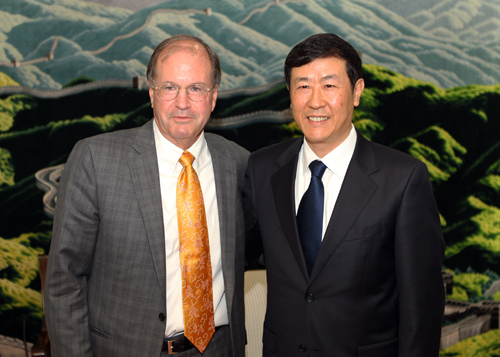 Professor Ronald J. Allen and Shen Deyong, Vice-President of the Supreme People's Court